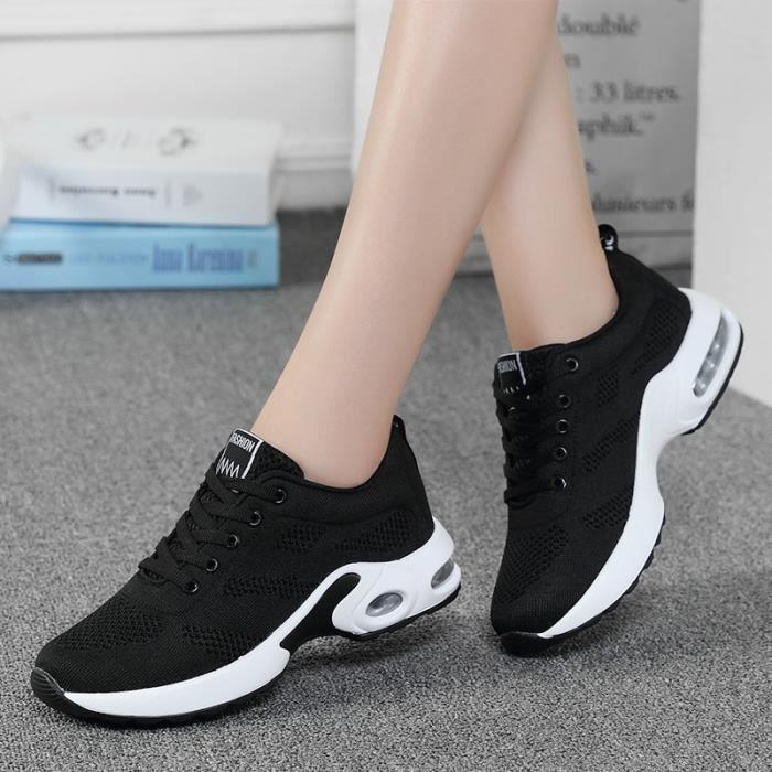 Lger Baskets Femme Respirant Poids Chaussures Course De Noir wFqYS7dq