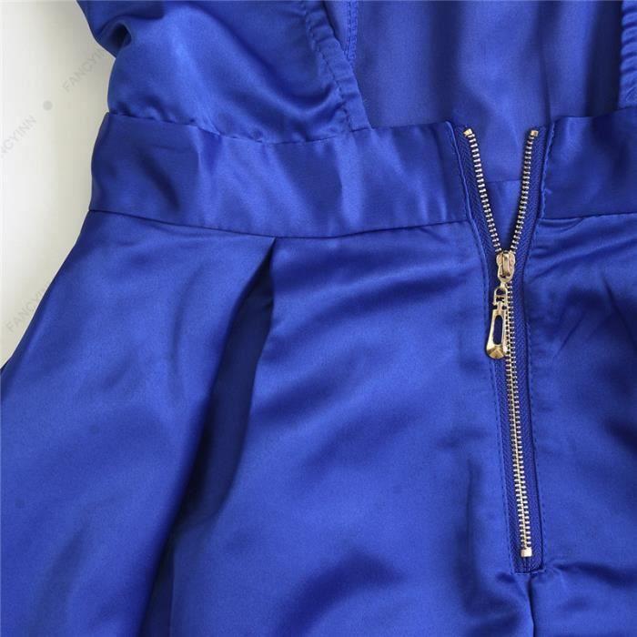 Robe Femme Eté Backless Sans Manches Plissée Slim Fit Mode Simple Flavor