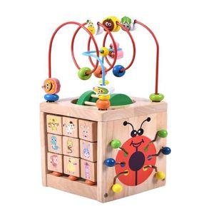 JEU D'APPRENTISSAGE Cube Perle Labyrinthe Jouet- 7 dans 1 Ensemble de