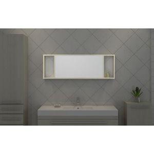 miroir mural avec etagere achat vente miroir mural avec etagere pas cher soldes d s le 10. Black Bedroom Furniture Sets. Home Design Ideas