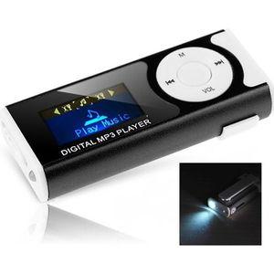 LECTEUR MP3 Lecteur MP3 avec écran digital et lampe de poch…