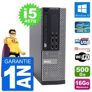 ORDI BUREAU RECONDITIONNÉ PC Dell 9020 SFF Intel Core i5-4570 RAM 16Go Disqu