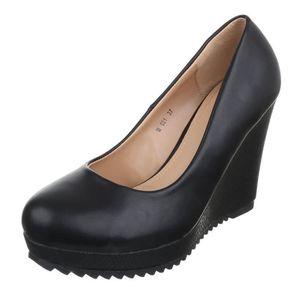 femme escarpin chaussuresemelle compenséetalons aiguilles talon haut TREFkizM4k