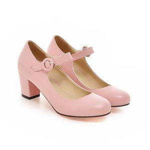 ESCARPIN Chaussures Femmes Basse Lacets Talons Hauts Boucle