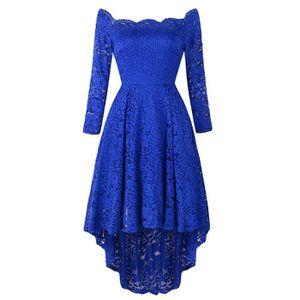 ab5c41e1457 ROBE Femmes Robe longue dentelle à manches longues de p