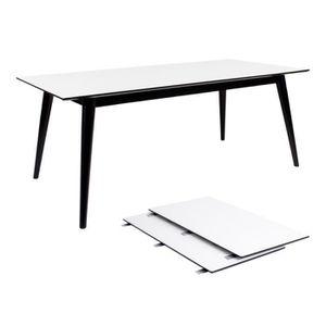 Et Vente Cher Table Achat Pas Extensible Blanc Noir nPwkO8Z0NX