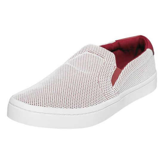 Adidas Homme Chaussures / Baskets Court Slip On Rouge Rouge - Achat / Vente slip-on