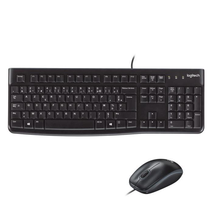 LOGITECH Pack clavier-souris filaire - MK120