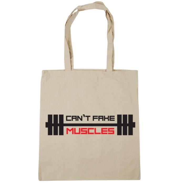 072854ada7c Femmes ne peut pas faux muscles Tote Sac shopping Gym Plage 42cm X38cm