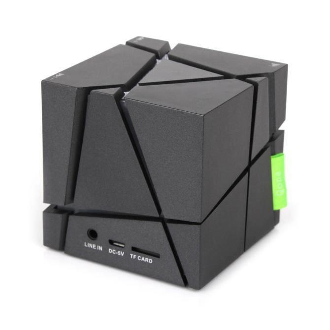 Thanksgi® Mini Cube Portable Led Haut-parleur Stéréo Bluetooth Sans Fil Pour Smartphone Tabletbk_1632