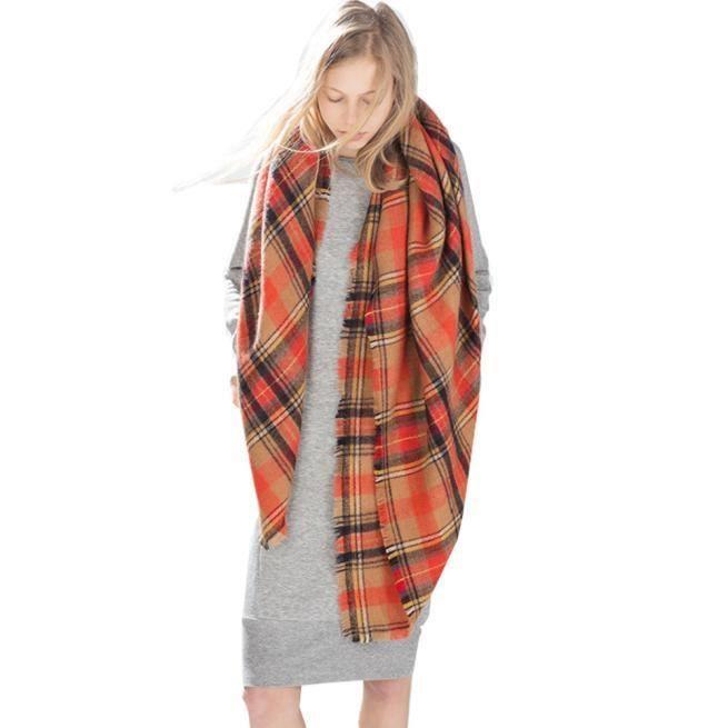 Écharpe Plaid Cozy Femme Hommes Femmes cochés Blanket surdimensionnée Tartan  OU XCH51119542OR 1904. ECHARPE - FOULARD ... 1d0cca88470