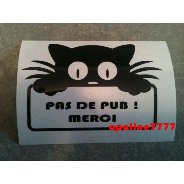 Sticker pas de publicite pub chat boite a lettre achat vente stickers soldes d s le 10 - Stickers boite aux lettres ...