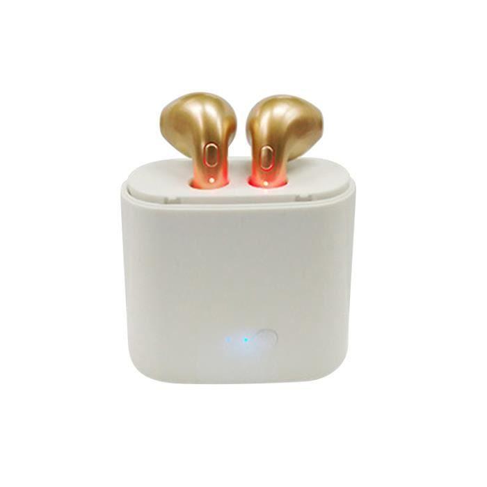 Or Casque D'écouteur D'earbud Bluetooth De Sports Sans Fil D'i7tws Pour Ios Android