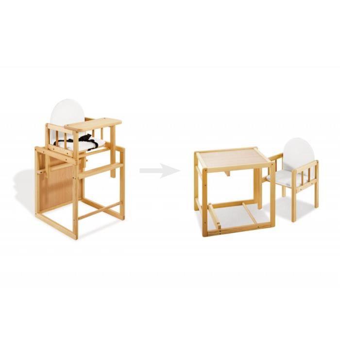 Pour Convertible Massif En Table Pin Chaise Haute Bébé Et nOP8w0kX