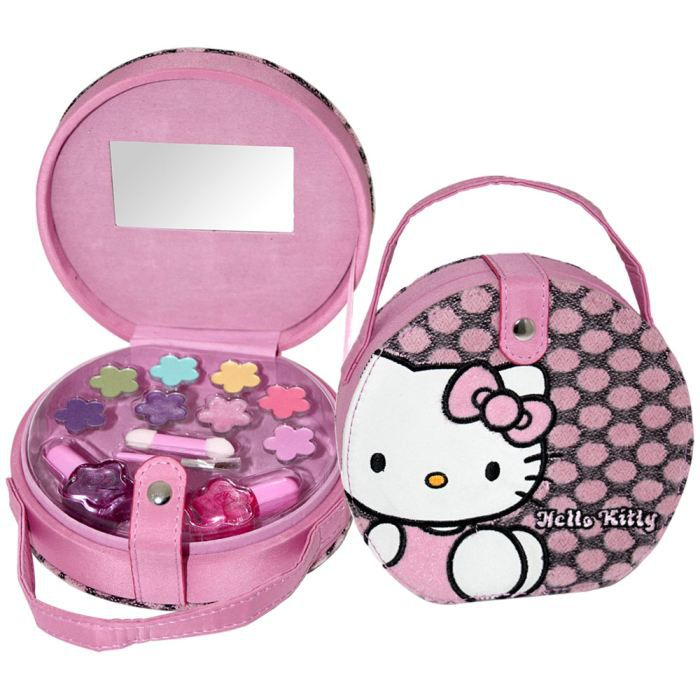 mallette de maquillage hello kitty 12 pcs achat. Black Bedroom Furniture Sets. Home Design Ideas