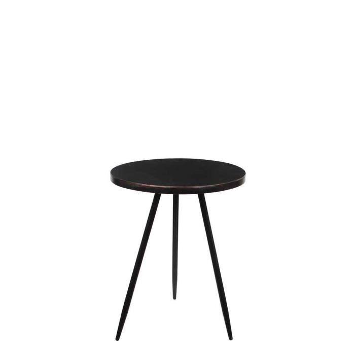 Mica Decorations Table Ronde Noire Taille En Cm: 51,5 X 40