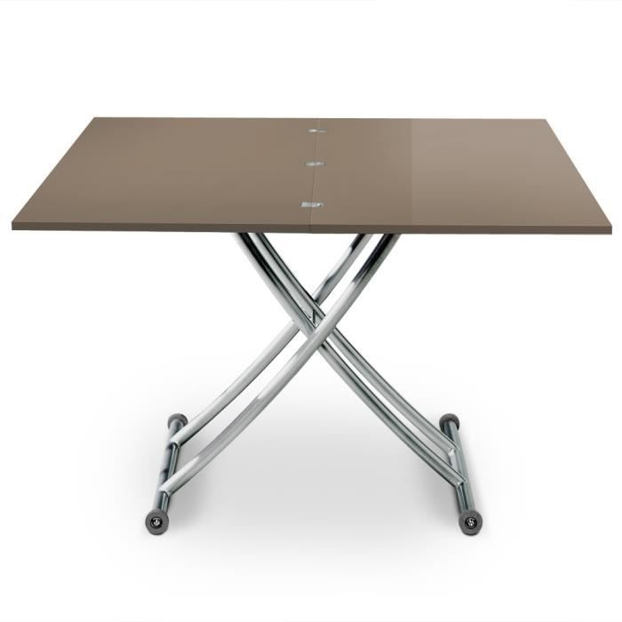 Table Basse Relevable Carrera Taupe Laque Achat Vente Table