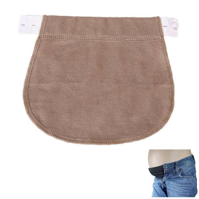 c1eec2a0fbf28 MOGOI Ceintures Grossesse Élastique Ajustable Bandeau De Femmes Enceintes  pantalon et jupe Brun