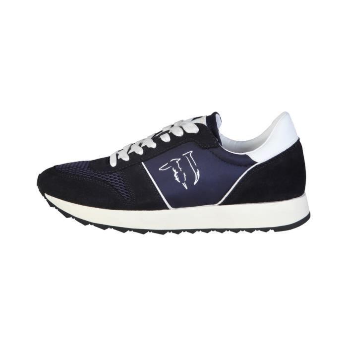 Trussardi - Sneakers pour homme (77S064_49_BLU) - Bleu
