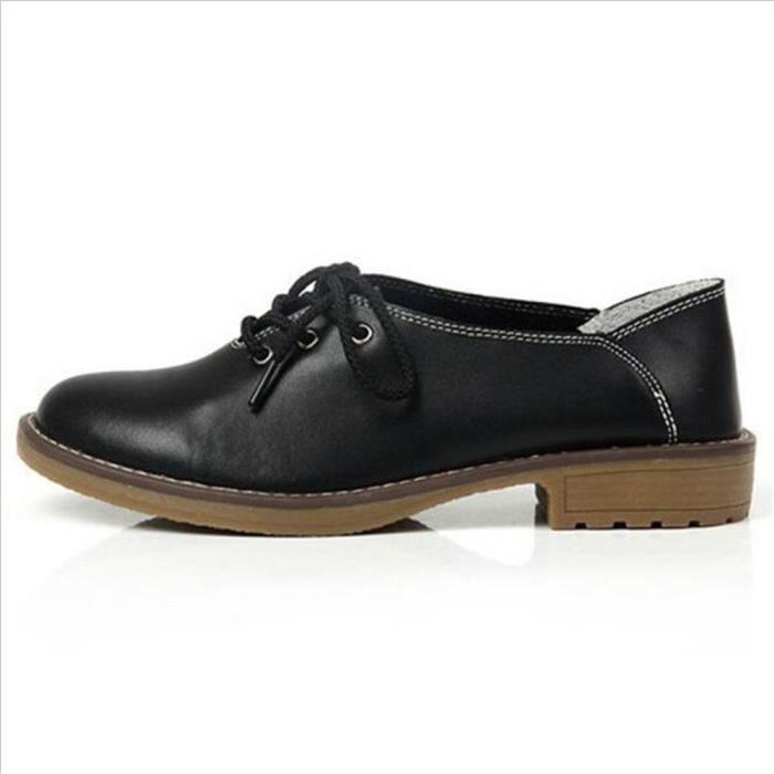 Split En Cuir Oxford Chaussures Pour Femmes Bout Pointu Casual Infirmière Chaussures Automne Plat Avec Cuir Femmes Mocassins
