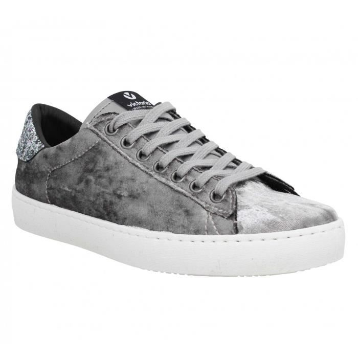 Baskets 36 gris Velours Victoria Femme 12611 nwvPym8ON0