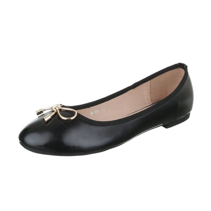 femme Glisser ballerine mocassin escarpin ballerine femme flâneurs surnœud noir chaussure chaussure flâneurs 8f8dcwrq