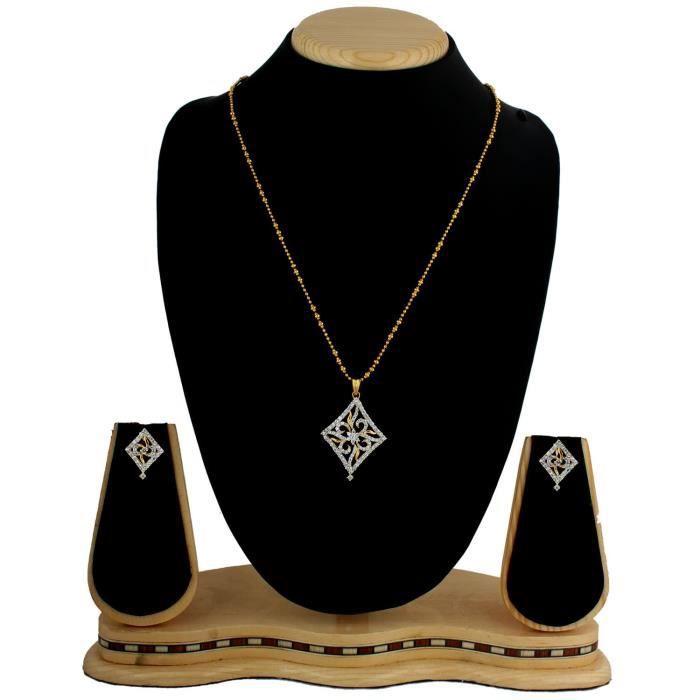 Plaqué or féminin diamant Dazzle Set pendentif pour Nl1101049g IFI60