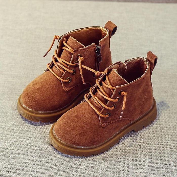 BOTTE Enfants Mode Garçons Filles Martin Sneaker Bottes Enfants Bébé Casual Chaussures@BrownHM N8p8d