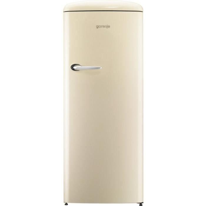 RÉFRIGÉRATEUR CLASSIQUE GORENJE ORB-153C - Réfrigérateur armoire freezer h