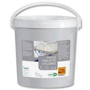 LIQUIDE LAVE-VAISSELLE 400 Tablettes chloree 25g ANIOS seau de 10kg