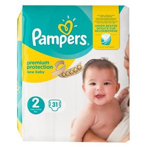 COUCHE Pampers Couches New Baby Taille 2 (3-6Kg) x31 (lot