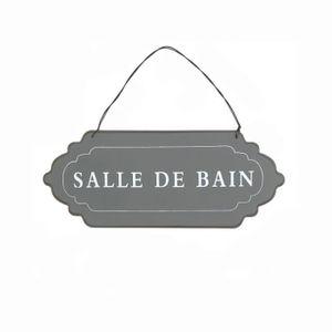 Plaque De Porte Bain