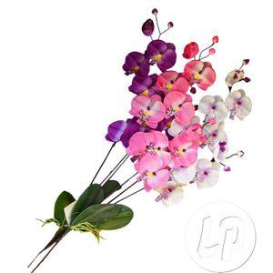 BÂTON - ÉPÉE - BAGUETTE LOT de 4:tige 2 branches d'orchidée 70cm
