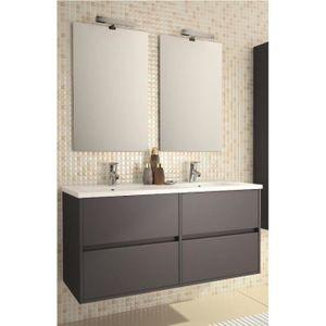 MEUBLE VASQUE - PLAN Meuble salle de bain suspendu et vasque porcelaine