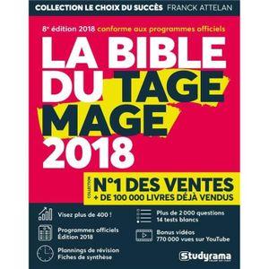 LIVRE CARRIÈRE EMPLOI Livre - la bible du TAGE MAGE (édition 2018)