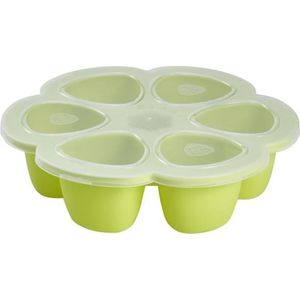 CONSERVATION REPAS Béaba Multiportions silicone 6x90 ml neon