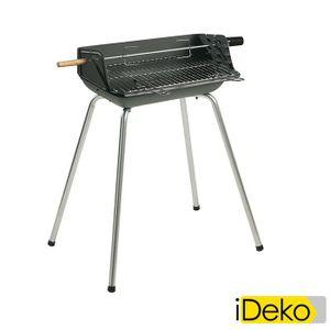 BARBECUE Barbecue bois et charbon cuve en fonte 53x39cm