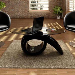 TABLE BASSE Table basse Scandinave avec dessus de table en ver