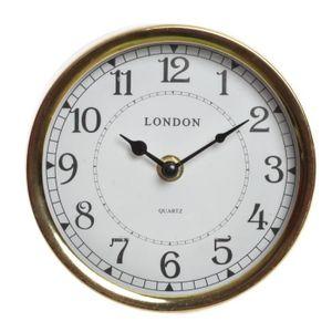HORLOGE - PENDULE Pendule en métal Londres - Ø15 x 4 cm - Doré vieil