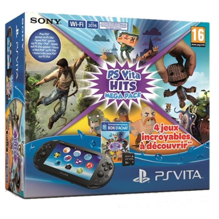 CONSOLE PS VITA Pack PS Vita + Carte mémoire 8 Go + 4 jeux incroya