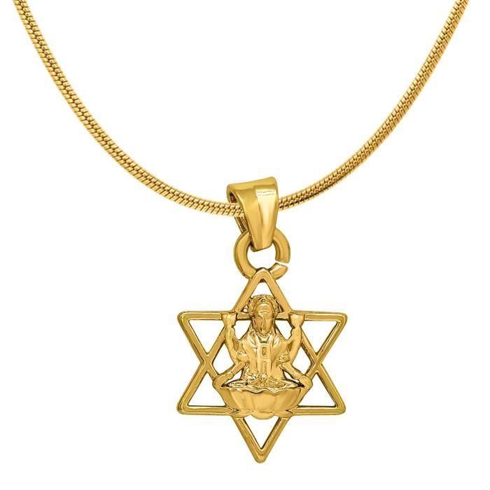 Femmes Exa Collection Laxmi étoile plaqué or Religious Dieu Pendentif pour & Ps6012037g S65G1