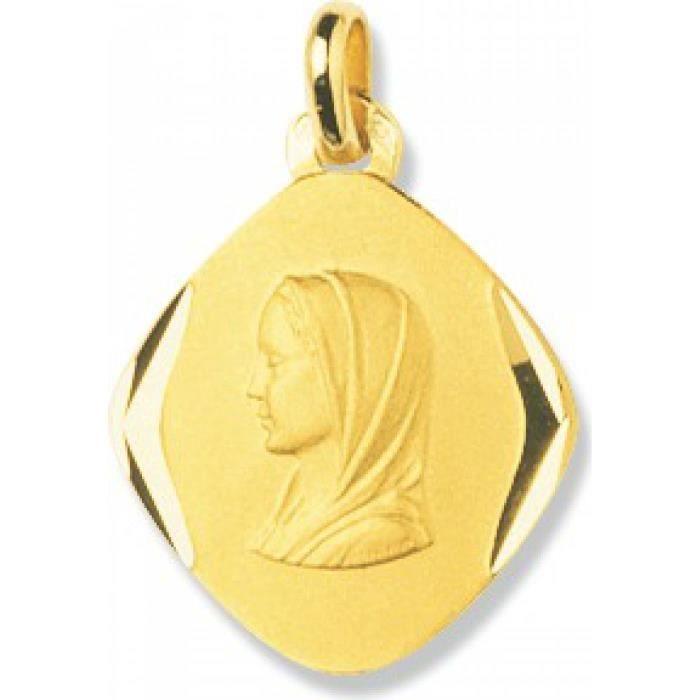 Médaille femme or Vierge Marie losange Murat Paris