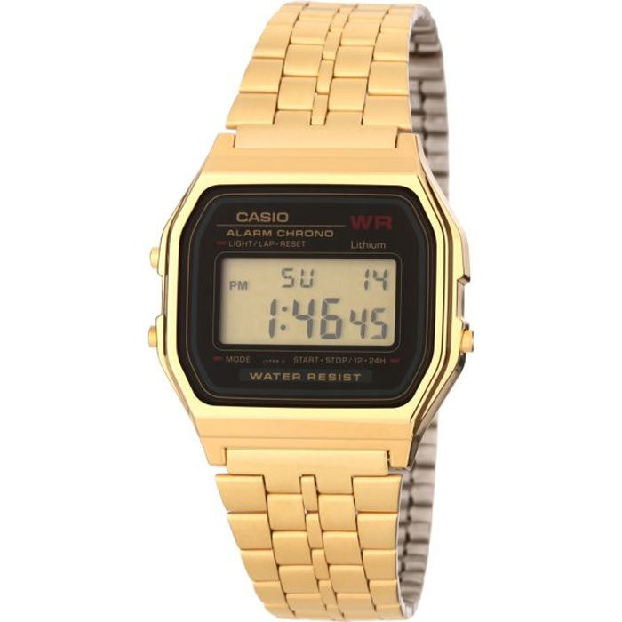 casio montre or homme