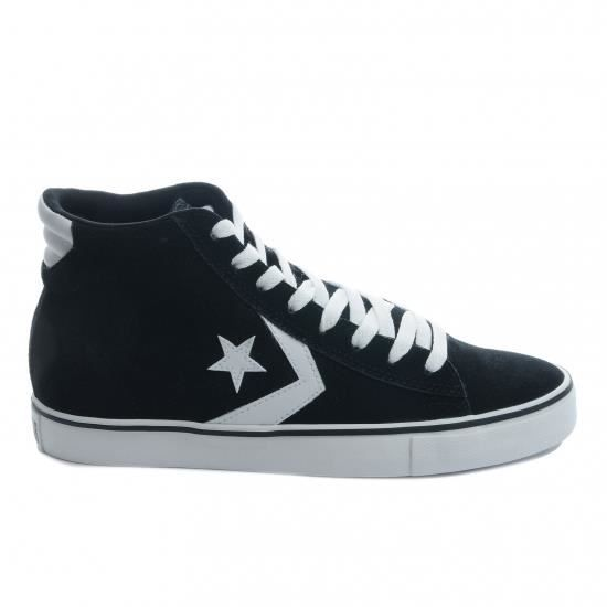 Vente basket PROLEATHERVULCMIDBLK Achat Noir Soldes Converse 6w1zn