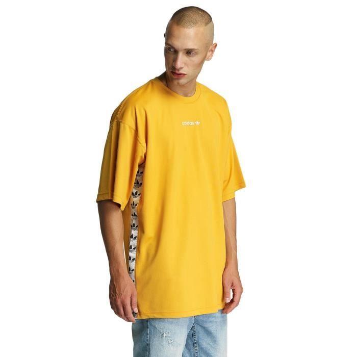 adidas homme hauts t shirt tnt tape jaune jaune achat vente t shirt soldes d s le 10. Black Bedroom Furniture Sets. Home Design Ideas
