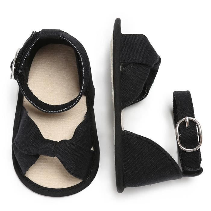 BOTTE Fille Bébé Chaussures Type de coeur Chaussures à semelle souple antidérapante Crèche Chaussures@NoirHM zyiuSdxsw