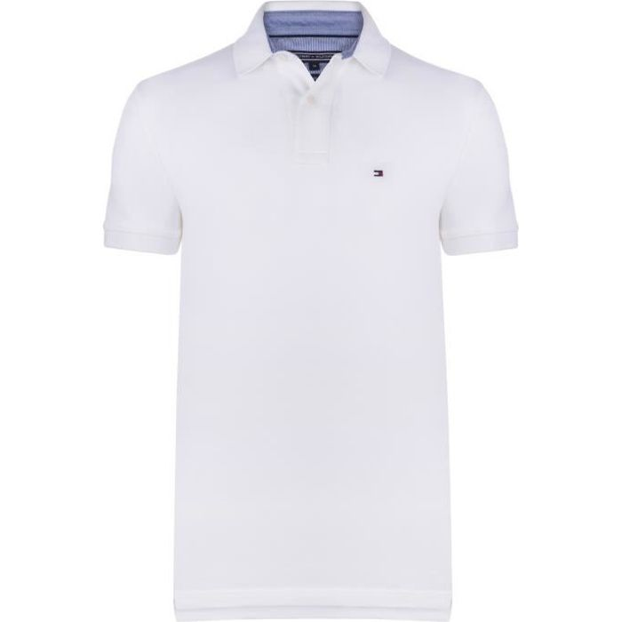 POLO TOMMY HILFIGER Polo Manches courtes - Homme - Blan