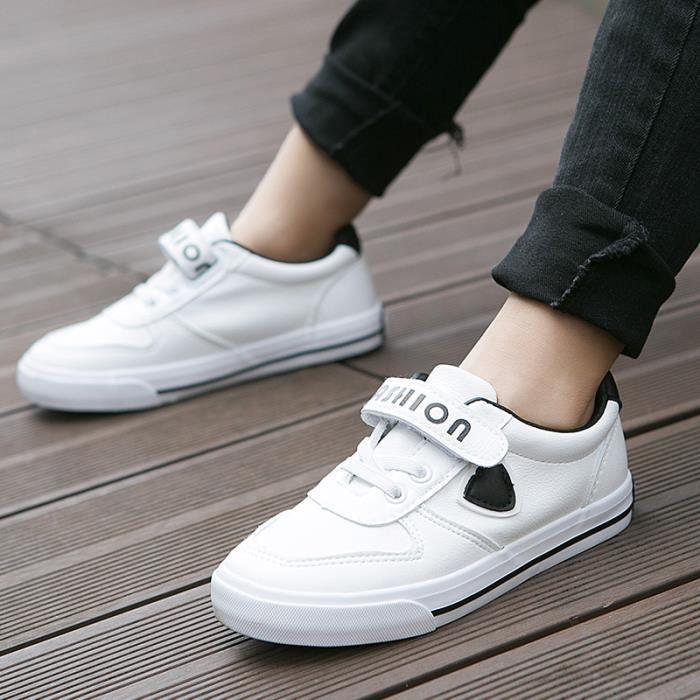 Chaussures Sports Enfants Garçon et fille en cuir avec Velcro eI1AFPaa