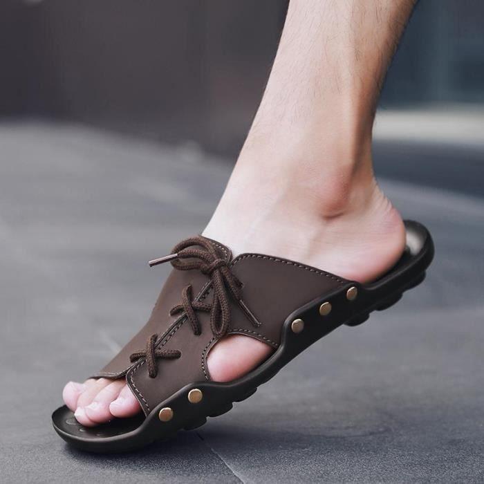 La Mode Créatif Simple Sandales Hommes Nouveaux Occasionnelles Été De 2018 Chaussures RIOnHUR