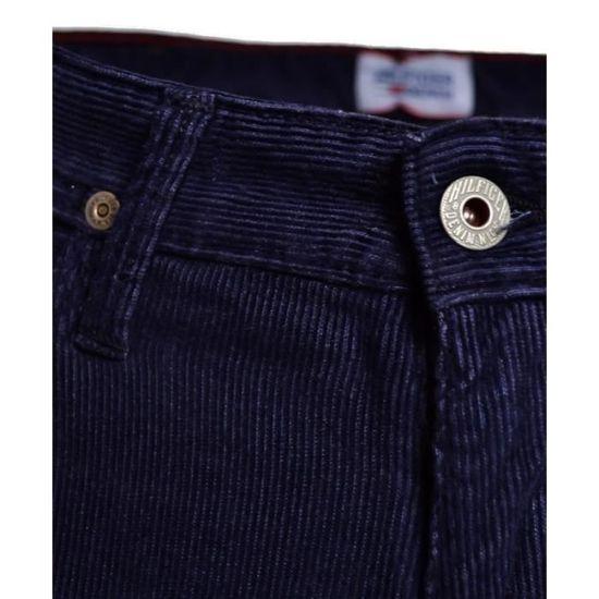 972dd48fc2086 Pantalon Tommy Hilfiger bleu marine en velour Ryan pour homme Bleu marine -  Achat   Vente pantalon - Soldes  dès le 9 janvier ! Cdiscount